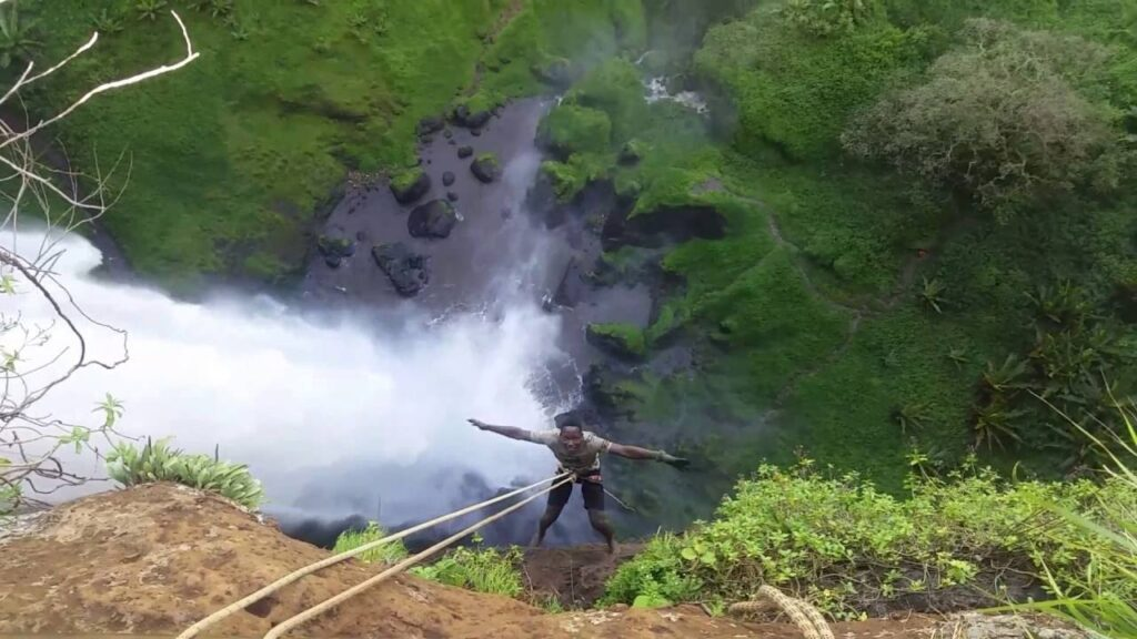 Abseiling-At-Sipi falls